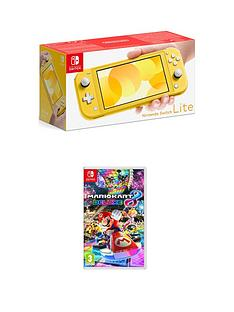 nintendo-switch-lite-nintendo-switch-lite-yellow-console-with-mario-kart-8-deluxe