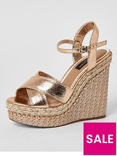 river-island-wide-fit-2--part-wedge-rose-gold