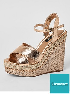 river-island-wide-fit-two-partnbspwedge-sandalsnbsp--rose-gold