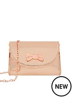 monsoon-girls-super-patent-scallop-bag-gold