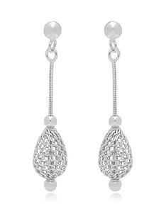 beaverbrooks-silver-mesh-drop-earrings
