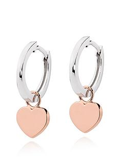 beaverbrooks-silver-and-rose-gold-plated-heart-hoop-earrings