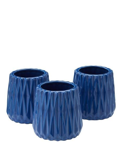 set-of-3-faceted-tealight-holders--nbspblue