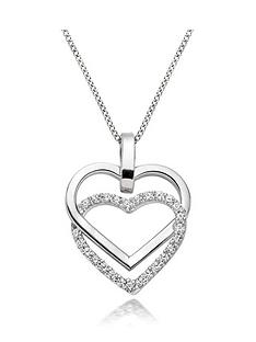 beaverbrooks-9ct-white-gold-cubic-zirconia-double-heart-pendant