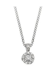 beaverbrooks-9ct-white-gold-diamond-pendant