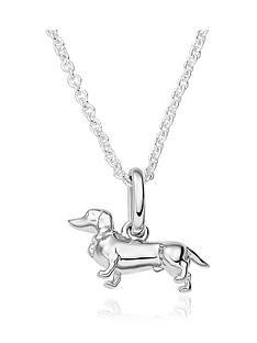 beaverbrooks-silver-sausage-dog-pendant