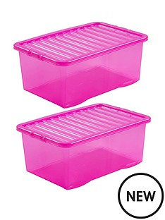 wham-set-of-2-pink-plastic-crystal-storage-boxes-ndash-45-litres-each