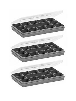 wham-organiser-boxes-with-13-divisions-ndash-set-of-3