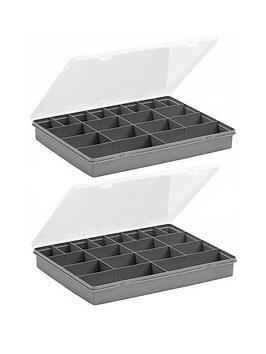 wham-organiser-boxes-with-18-divisions-ndash-set-of-2