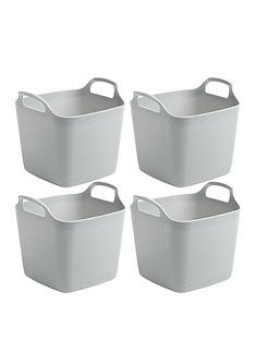 wham-set-of-4-flexi-storage-tubs--nbspgrey