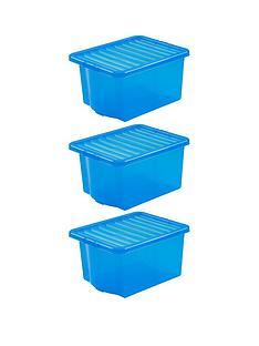 wham-set-of-3-blue-plastic-crystal-storage-boxes-ndash-35-litres-each