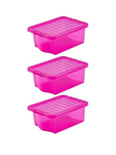 wham-set-of-3-pink-plastic-crystal-storage-boxes-ndash-16-litres-each