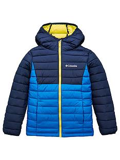 columbia-boys-powder-lite-hooded-jacket-blue