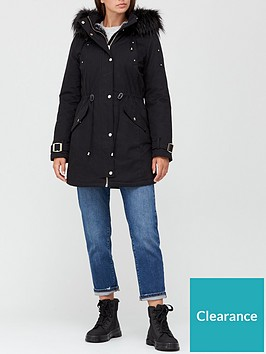 v-by-very-glam-parka-with-buckle-sleeve-detail-black