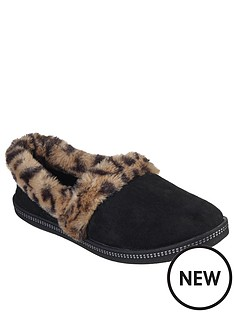 skechers-cozy-campfire-frisky-gal-leopard-full-slipper-black