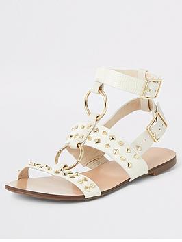 river-island-studded-gladiator-sandal-beige