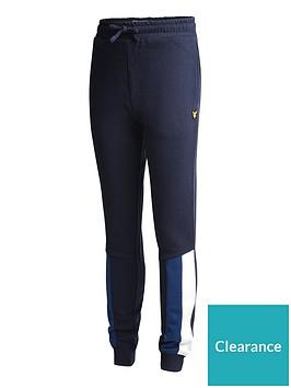 lyle-scott-boys-panel-cuffed-jogger-navy