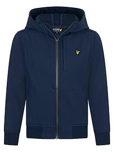 lyle-scott-boys-soft-shell-hooded-jacket-navy