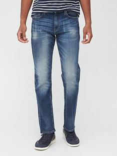 armani-exchange-j16-straight-leg-vintage-wash-jeans-blue