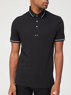 armani-exchange-centre-logo-polo-shirt-black