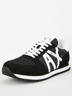 armani-exchange-retro-runner-trainers-black