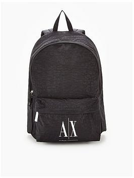 armani-exchange-ax-icon-logo-nylon-backpack-black