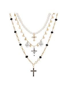 bibi-layered-cross-charm-necklaces