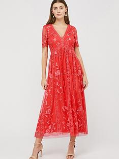 monsoon-valentina-embroidered-midi-dress-coral