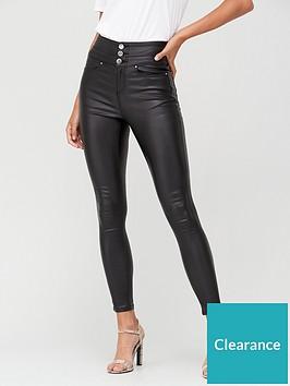 v-by-very-petite-macy-high-waisted-coated-skinny-jean