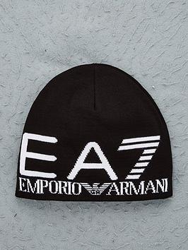 ea7-emporio-armani-train-visibility-logo-knitted-beanie-black