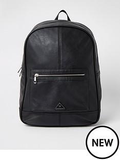 river-island-triangle-logo-rucksack-black