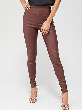 v-by-very-valuenbspcoated-jeggings-oxblood