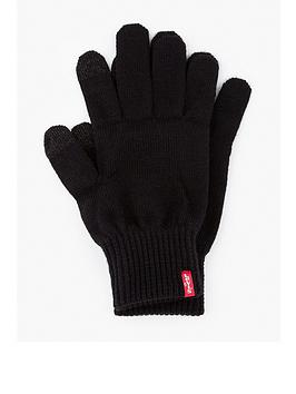 levis-touch-screen-knitted-gloves-black