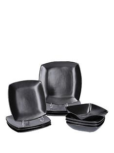 creative-tops-raven-12-piece-black-stoneware-square-dinner-set