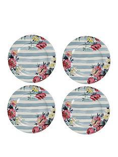 kitchencraft-mikasa-clovelly-pink-floral-side-plates-ndash-set-of-4
