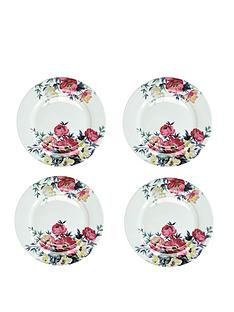 kitchencraft-mikasa-clovelly-pink-floral-dinner-plates-ndash-set-of-4