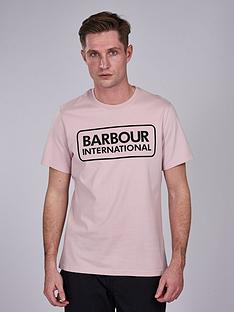 barbour-international-essential-large-logo-t-shirt-pink
