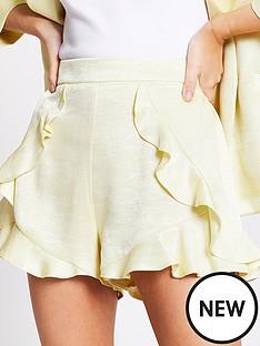 ri-petite-frill-smart-short-yellow