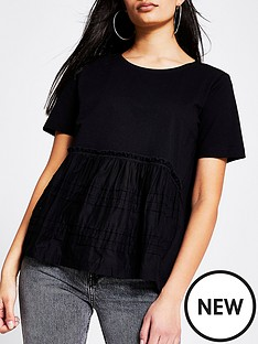 river-island-smock-jersey-tee-black