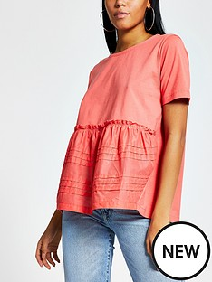 river-island-smock-jersey-tee-coral
