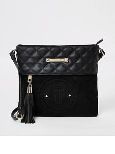 river-island-embossed-circle-messenger-bag-black