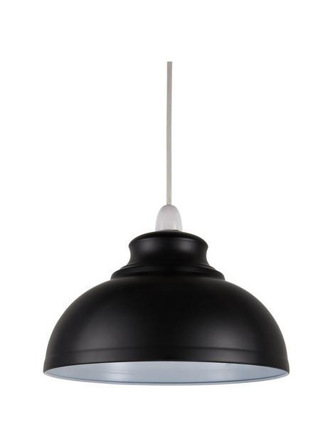 dome-spun-metal-shade--nbspblack