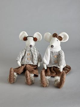 set-2-sitting-mice-christmasnbspdecorations