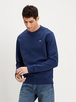 levis-levis-original-crew-neck-sweatshirt-blue