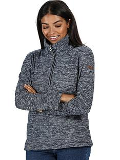regatta-fidelia-quarter-zip-marl-fleece-navy