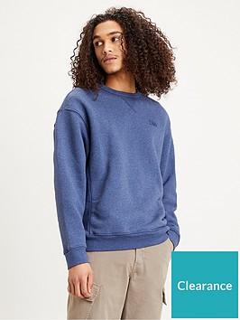 levis-levis-premium-heavyweight-crew-neck-sweatshirt-blue