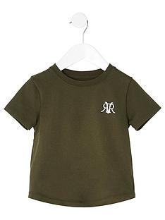 river-island-mini-boys-logo-t-shirtnbsp-nbspkhaki