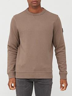 boss-walkup-1-arm-logo-sweatshirt-beigenbsp