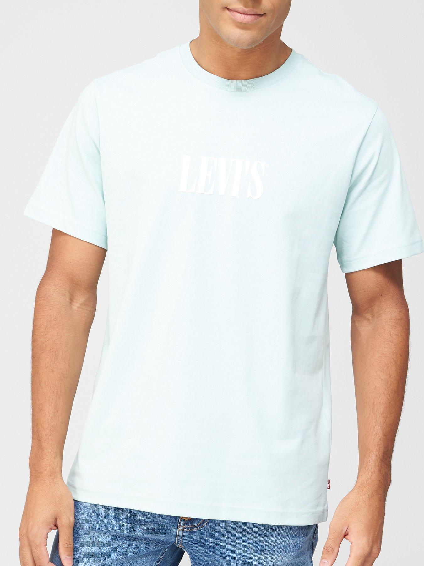 Wrangler Mens Box Logo Regular Fit T-Shirt Grey in Size Large