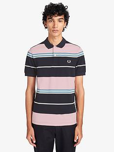 fred-perry-stripe-polo-shirt-navypink
